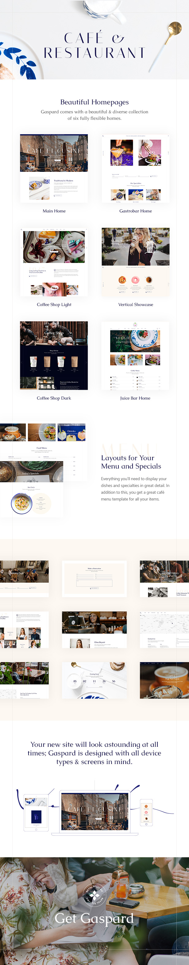 Gaspard - Restaurant and Coffee Shop Theme - 1